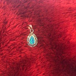 Sterling 925 opal pendant